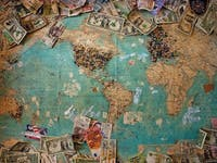 money on a map