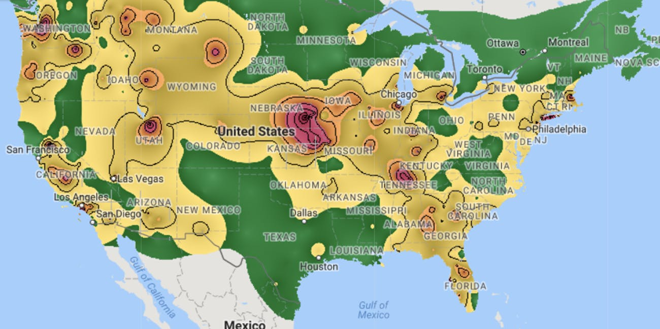 fireworks pollution map unhealthy smoke
