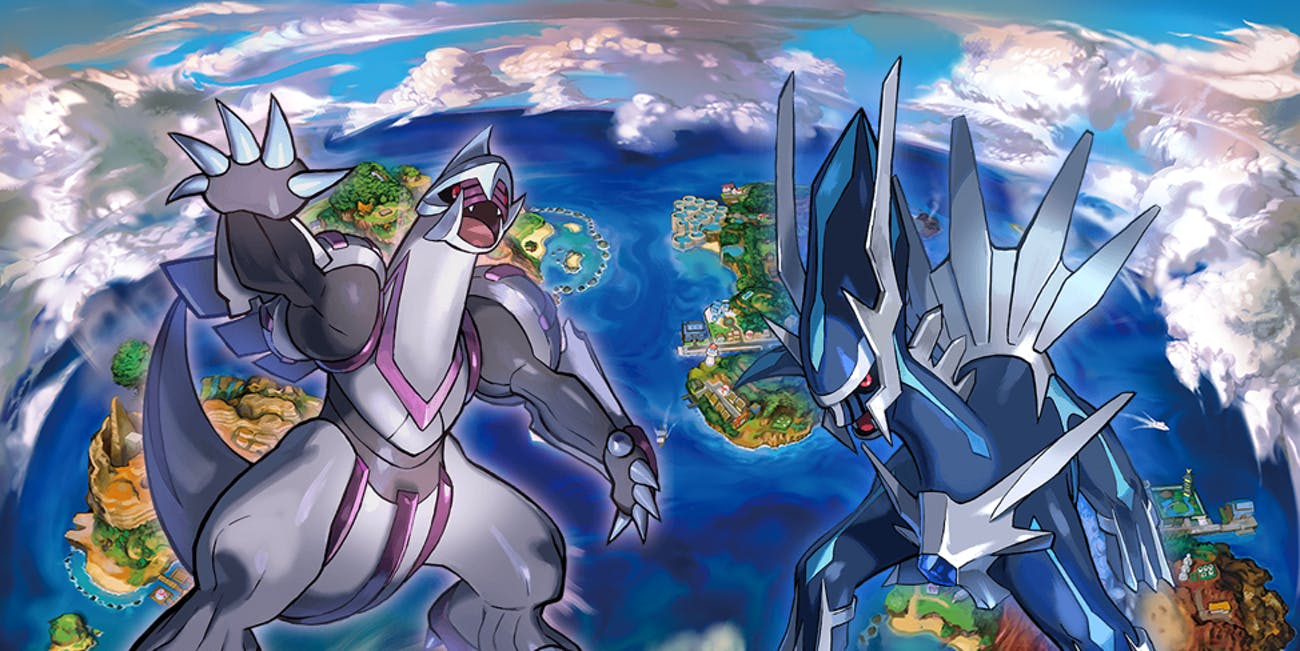 Dialga and Palkia kick off the free Legendaries in 2018.
