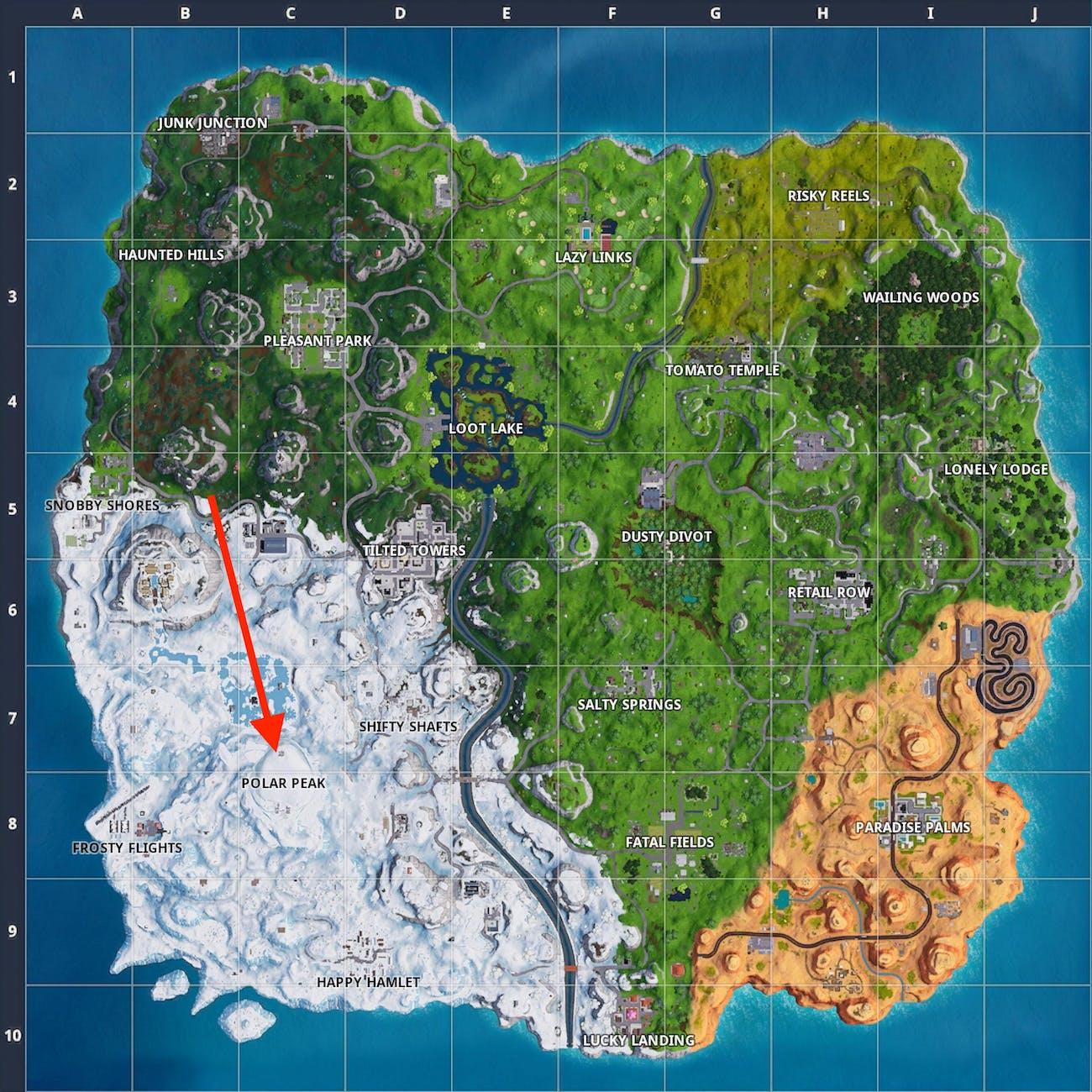 Fortnite Week 7 Snowfall Map