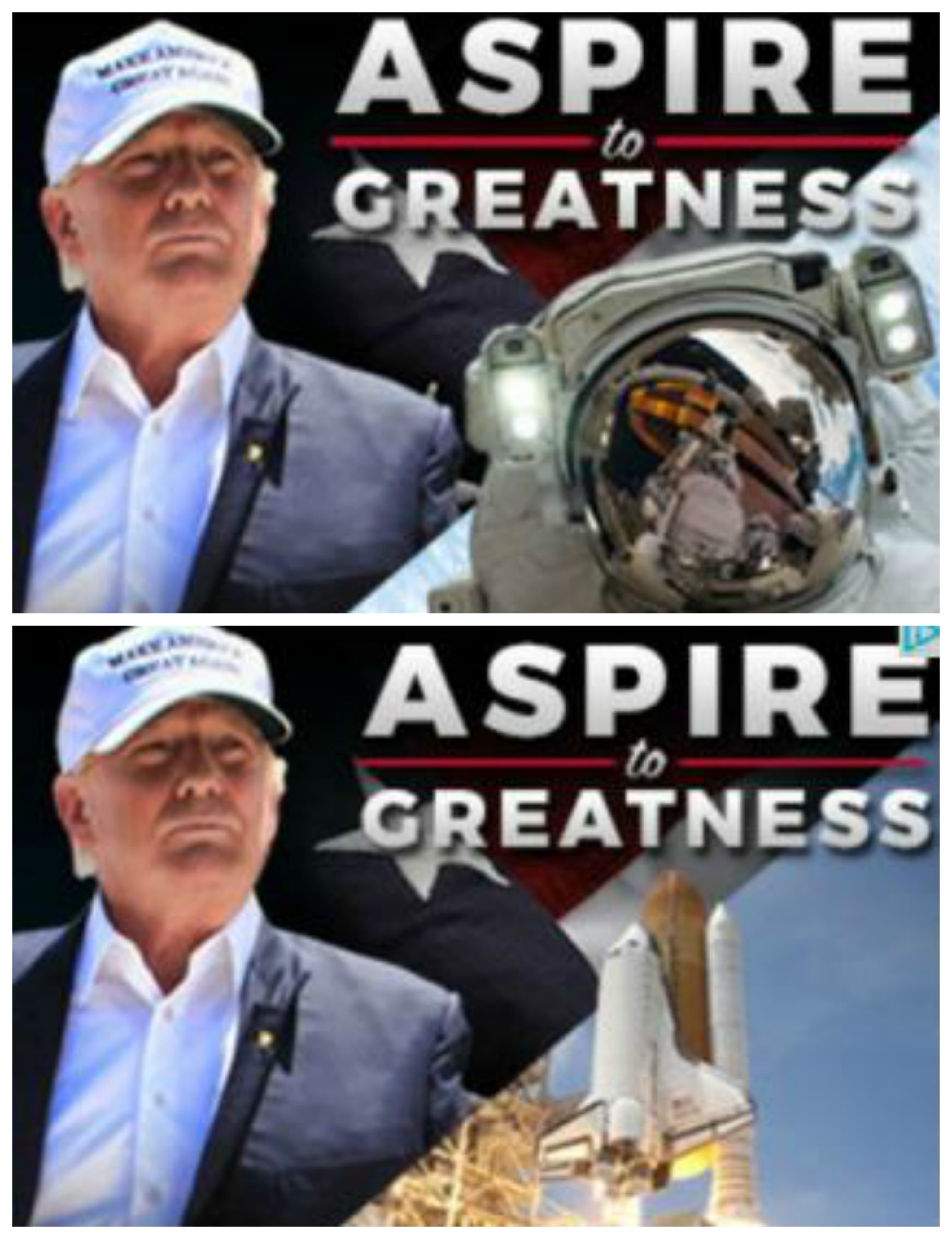 Trump's two NASA-related campaign ads.