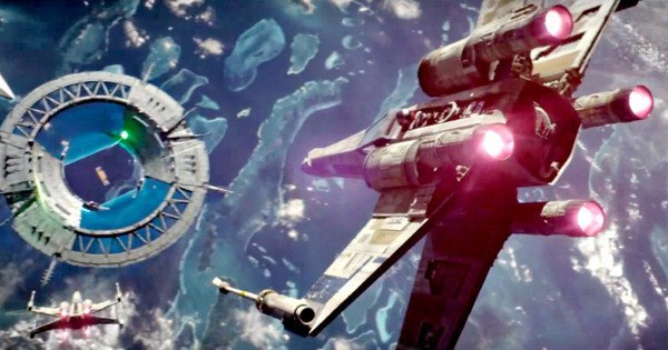 X-Wing attack about Scarif in 'Rogue One'