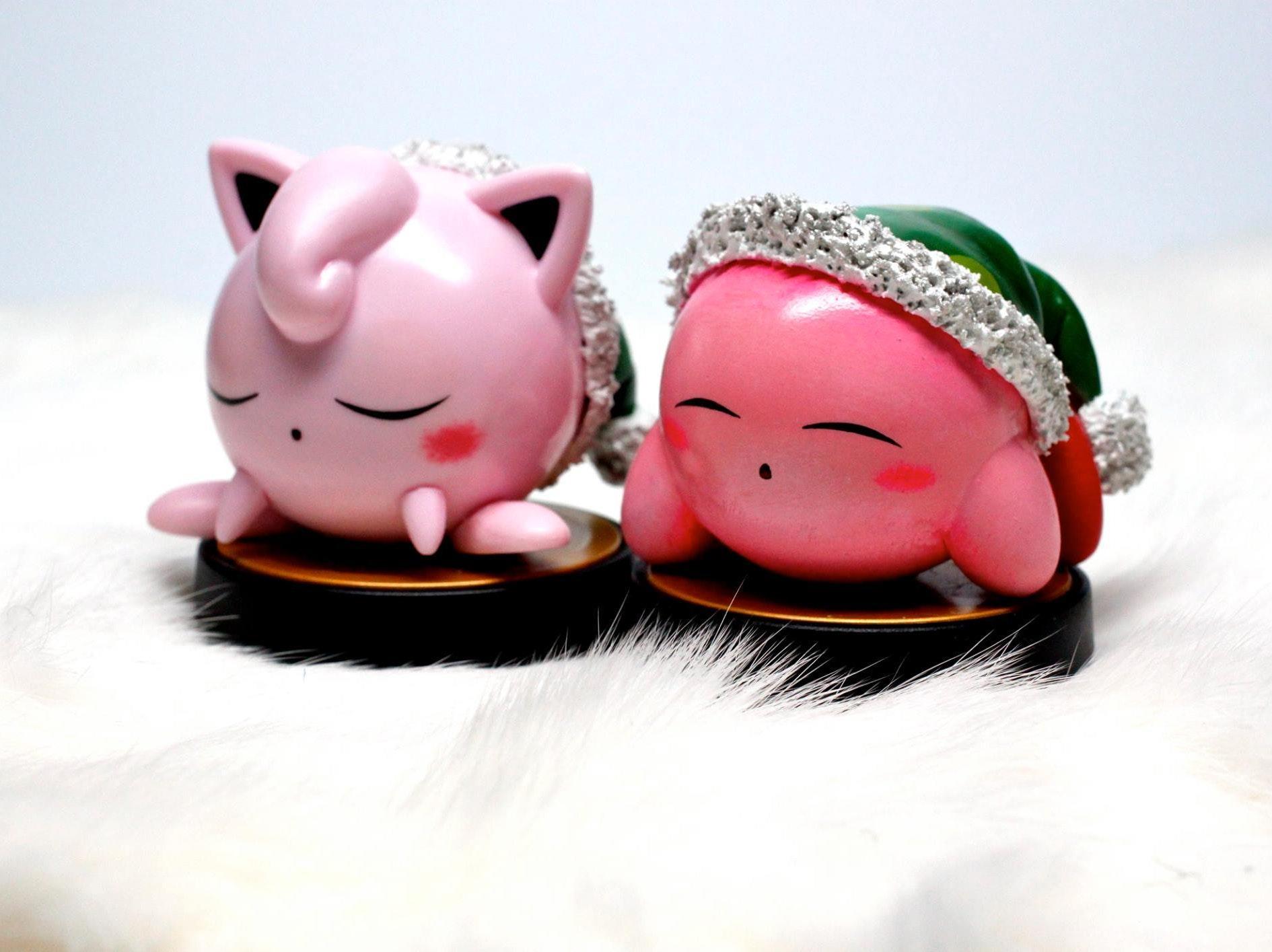 Sleepy Jigglypuff and Kirby are a good use of customs.