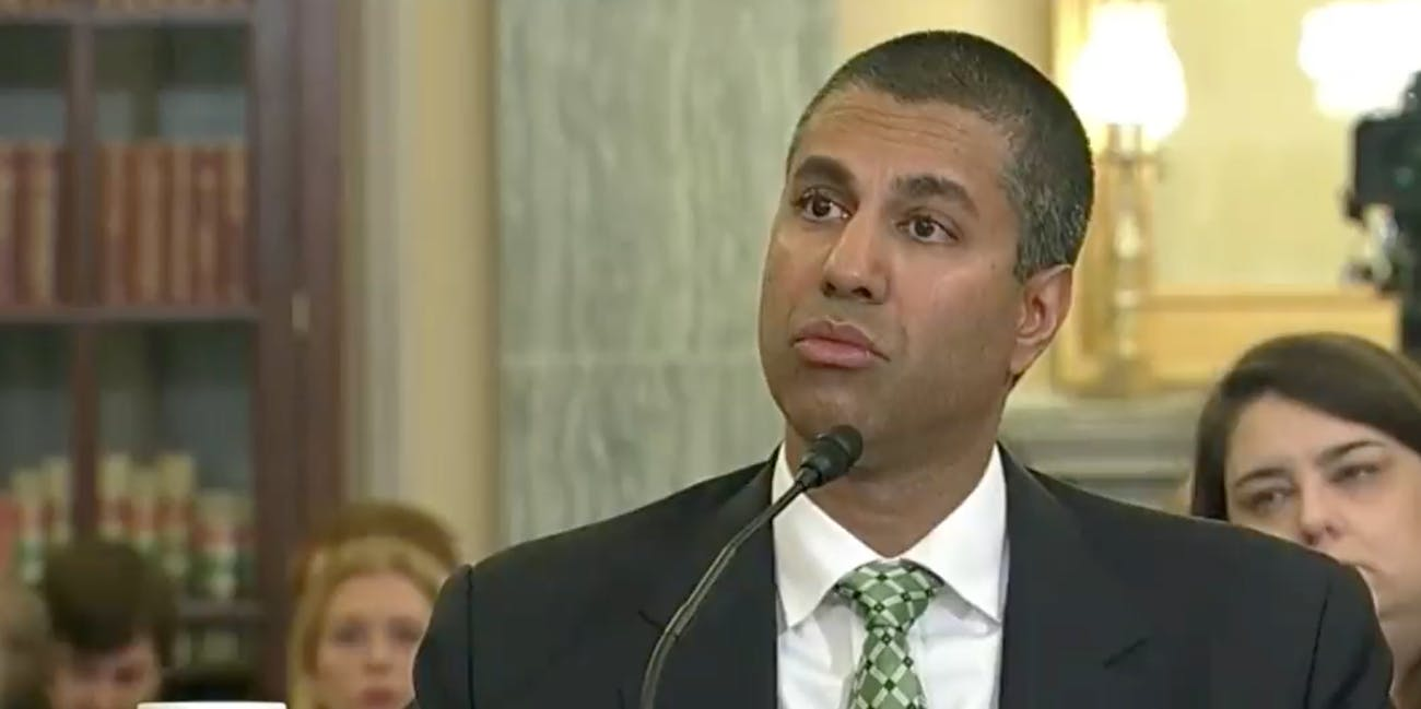 FCC Chair Ajit Pai on August 16, 2018