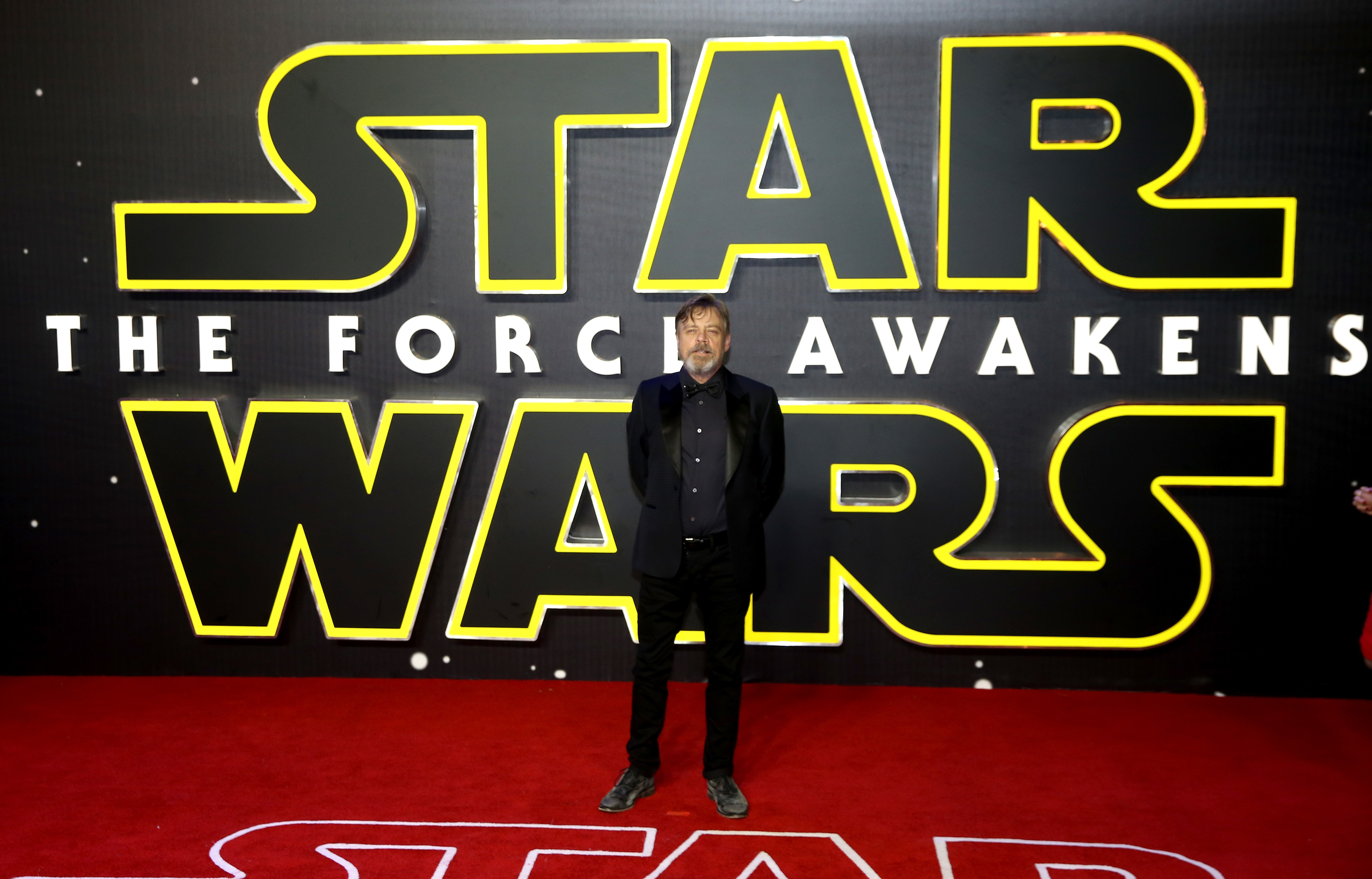 Mark Hamill attends the European Premiere of 'Star Wars: The Force Awakens' at Leicester Square on December 16, 2015 in London, England.