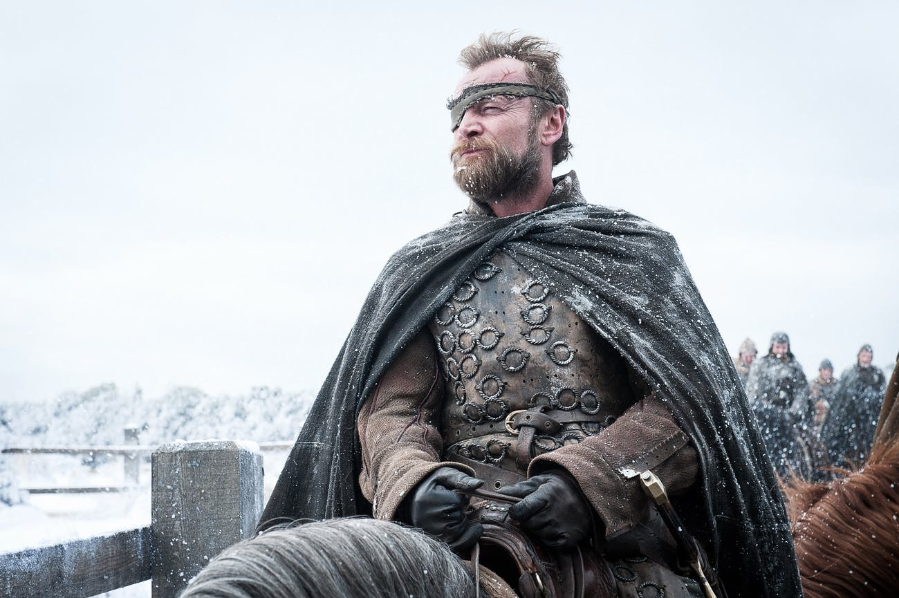 Beric Dondarrion riding in the north