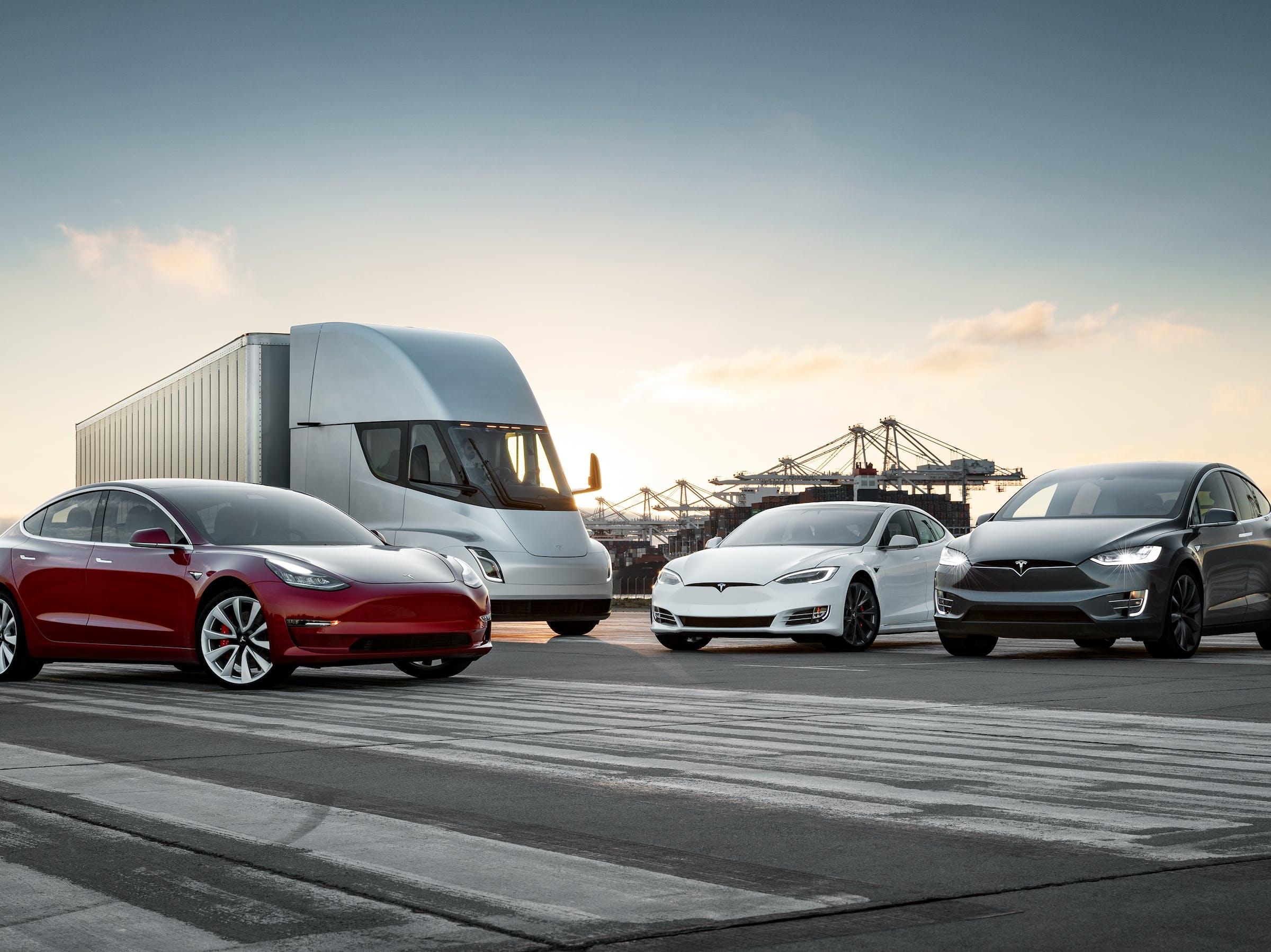Tesla family lineup