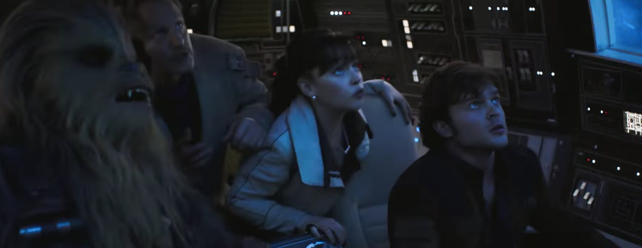 Falcon cockpit in 'Solo.'