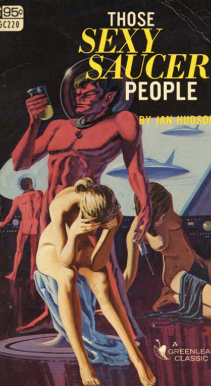 Detail of 'Those Sexy Saucer People.'