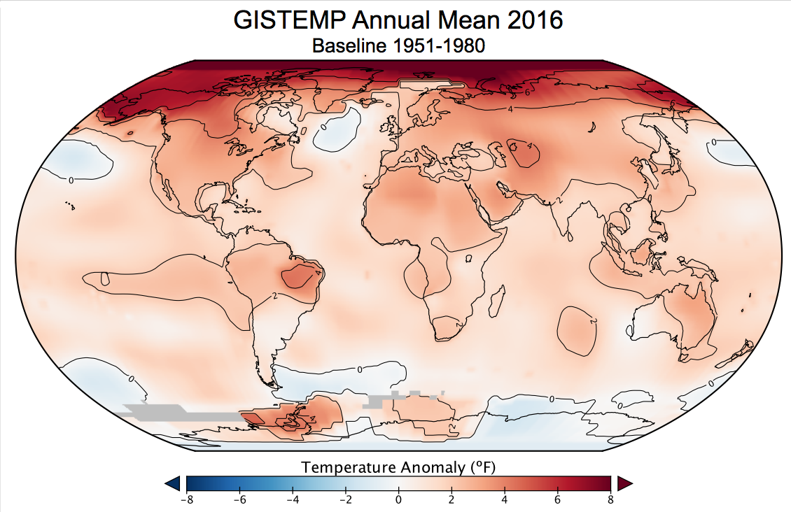 2016 was the Hottest Year on Record Globally