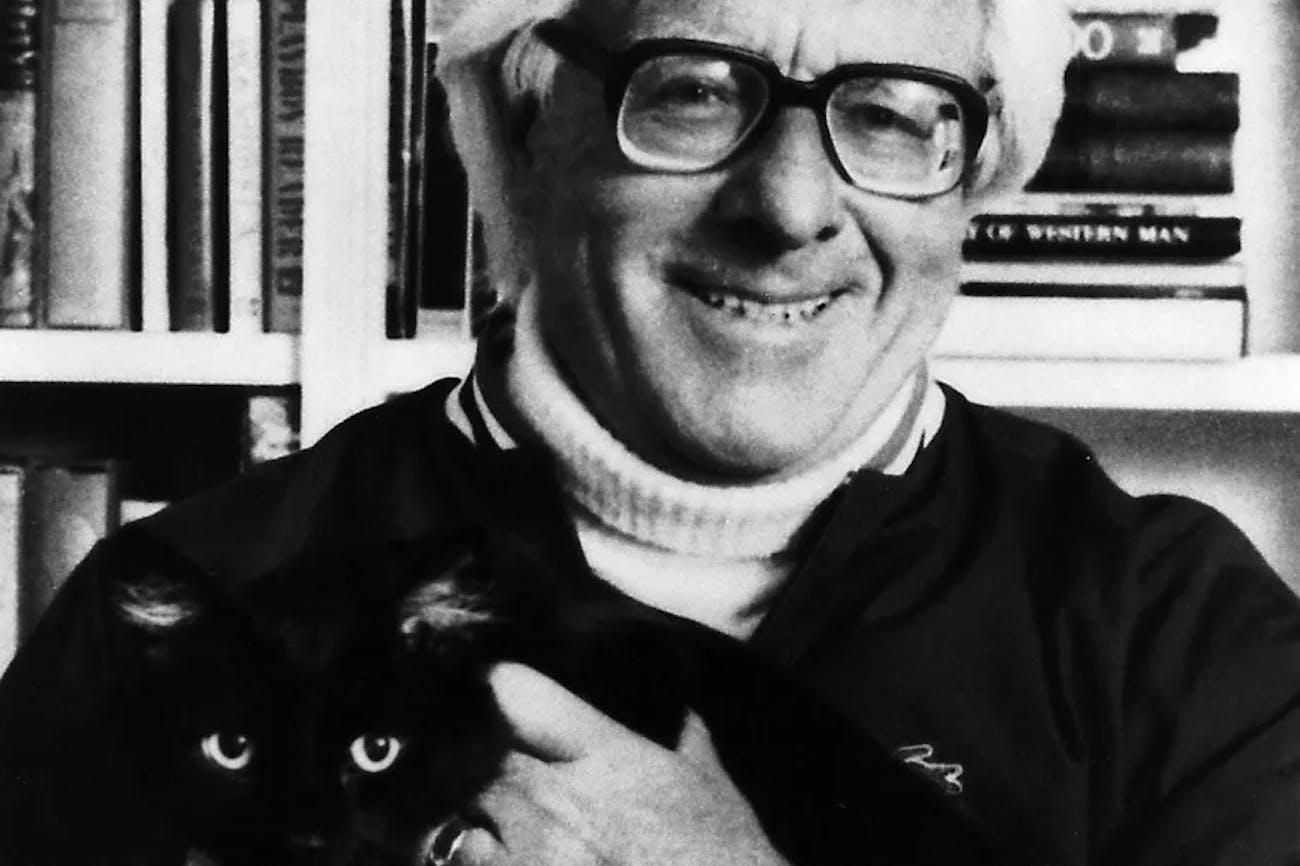 Ray Bradbury's most famous author photo.