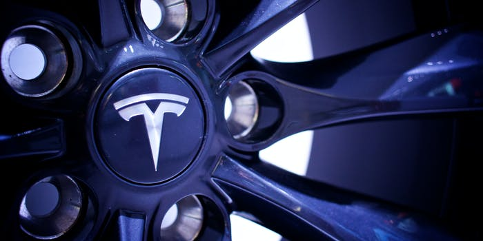 Tesla alloy wheels