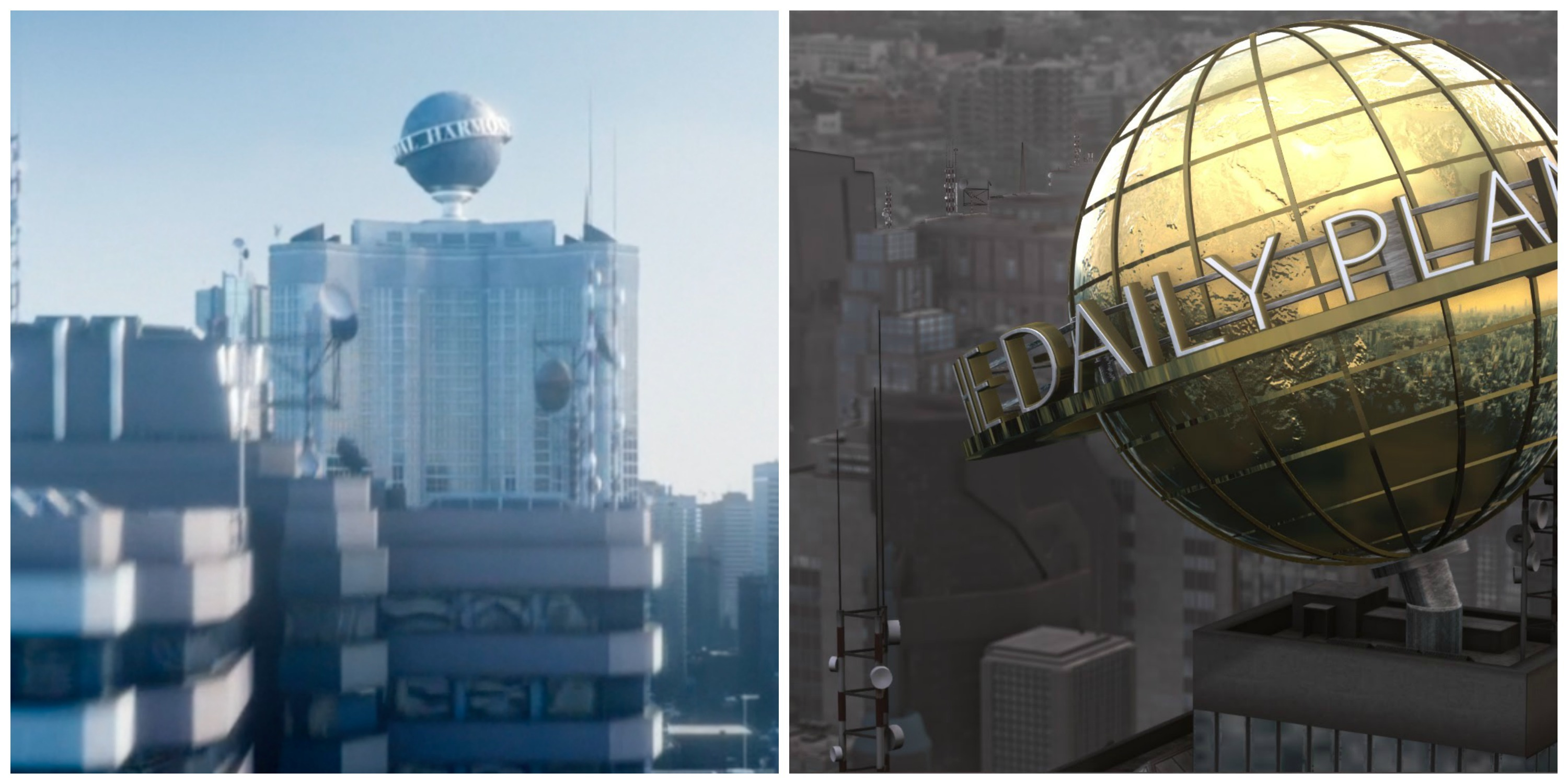 LEFT: Harmony Shoal. RIGHT: Daily Planet