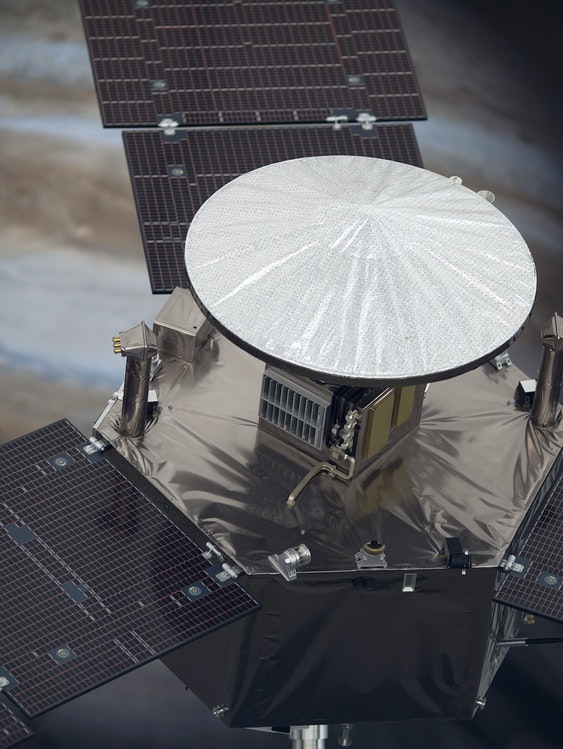 A model of NASA's Juno spacecraft, our most valuable tool for understanding the origins of Jupiter.