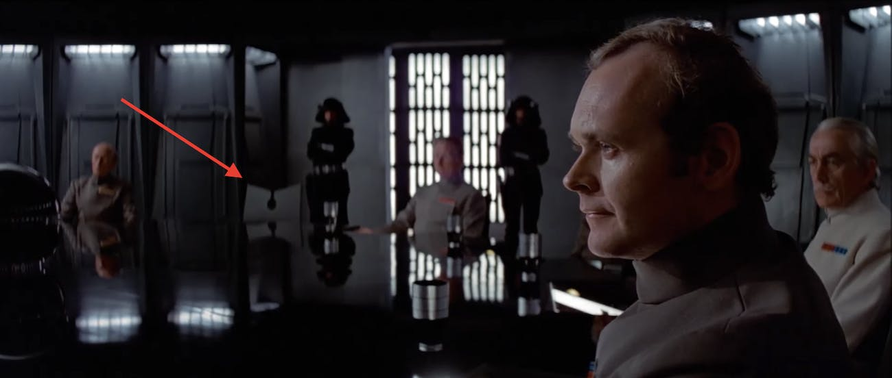 Rogue One A New Hope boardroom scene.