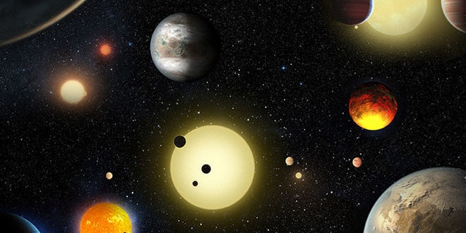Artist's rendering of potentially habitable exoplanets