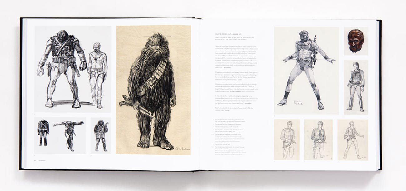 McQuarrie's early concept sketches for Chewbacca.