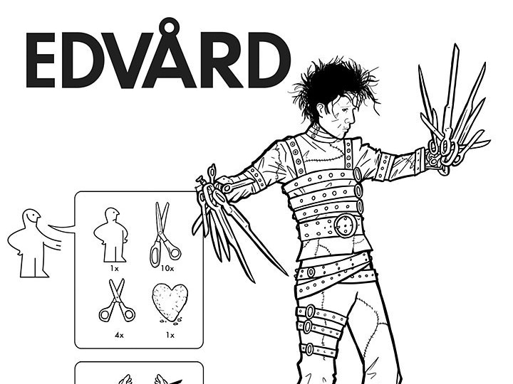 The Ikea Manual for Assembling Edward Scissorhands is a