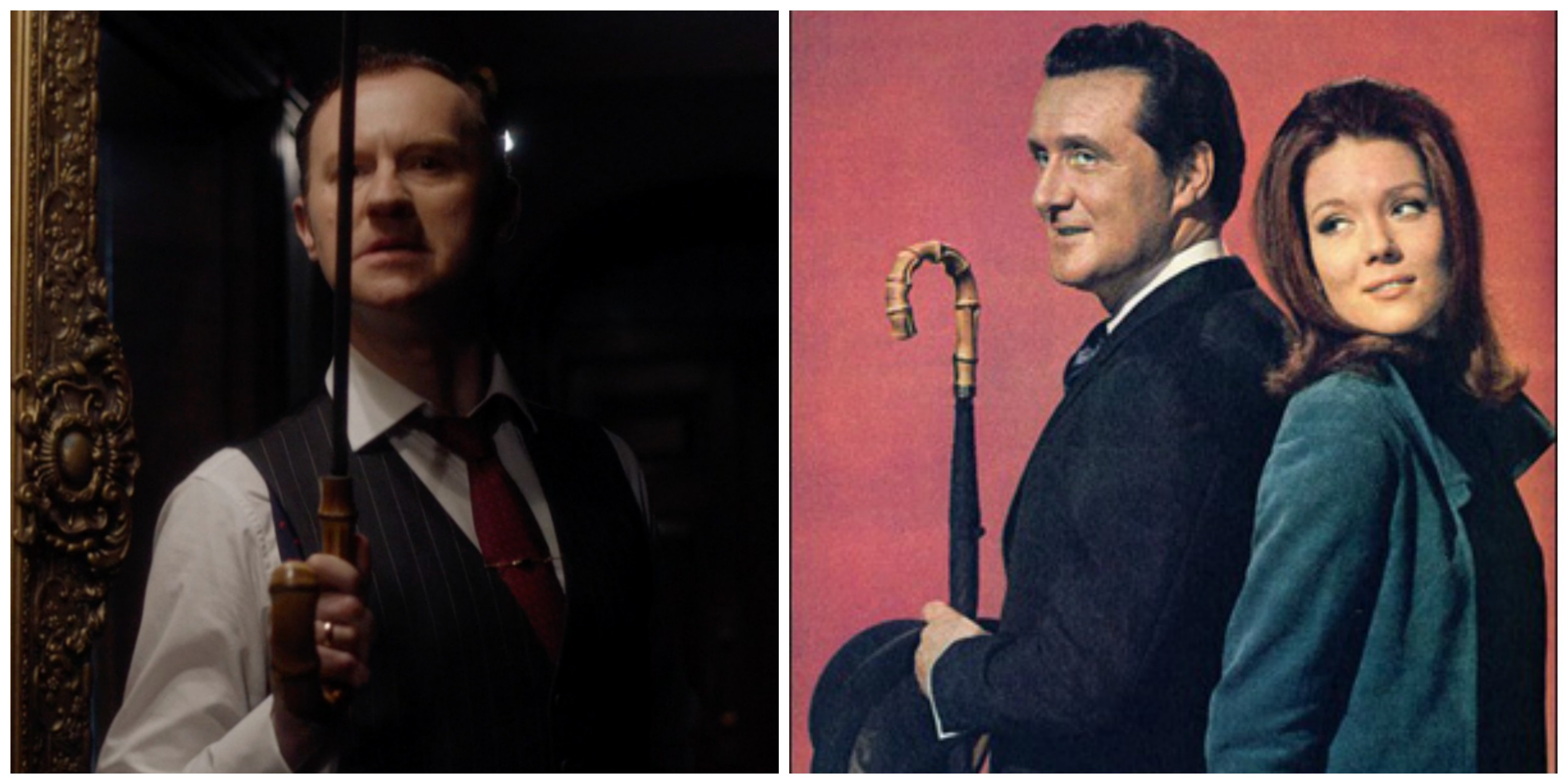 LEFT: Mycroft's sword. RIGHT: The original Avengers.