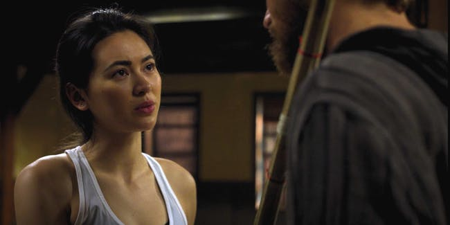 Jessica Henwick as Colleen Wing and Finn Jones as Danny Rand in Marvel's Iron Fist