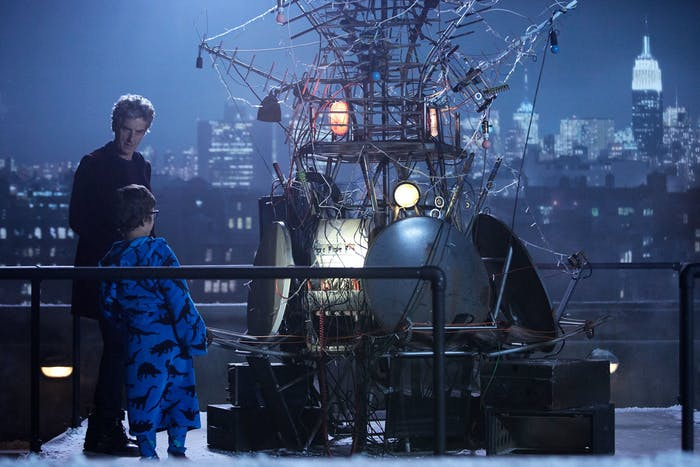 The Doctor speaks to a young Grant in the upcoming 2016 'Doctor Who' Christmas Special.