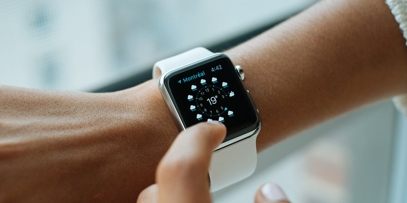 Apple Watch on wrist