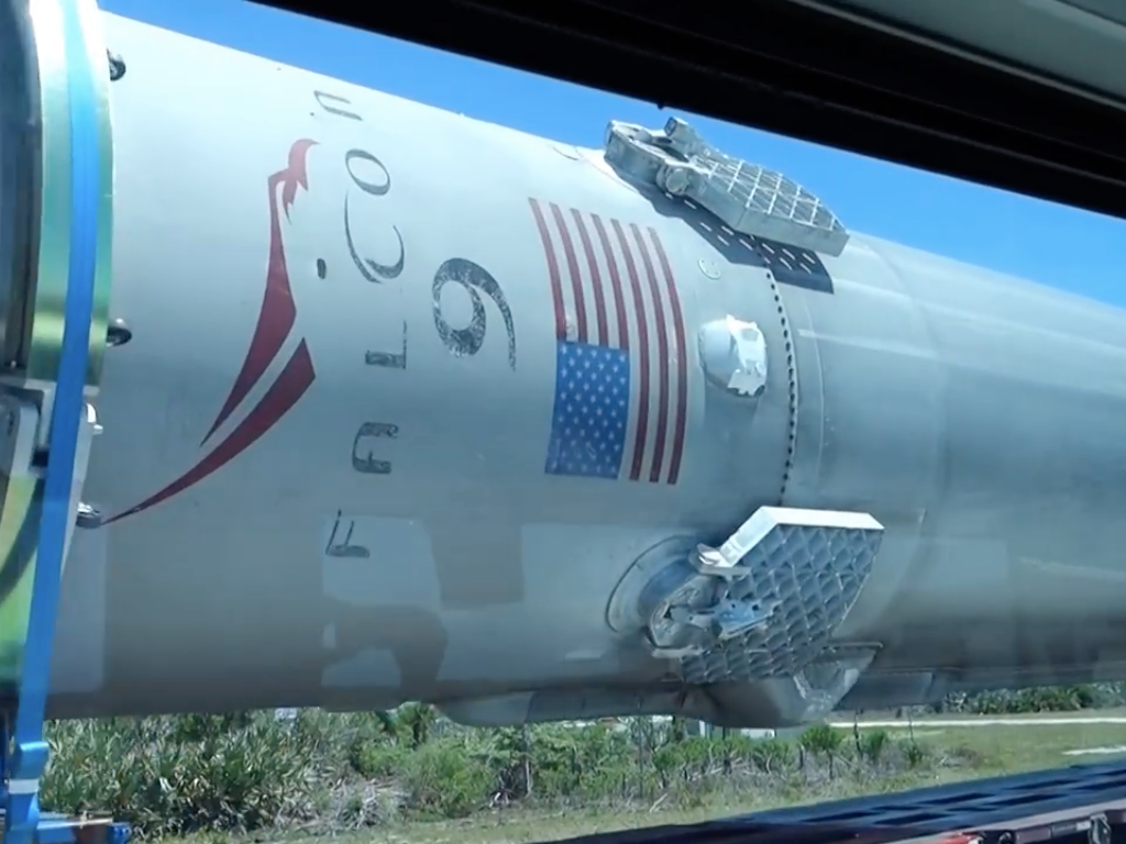 Watch: Extremely Southern Guy Narrates Falcon 9 Rocket's Trip Back to SpaceX's Launchpad