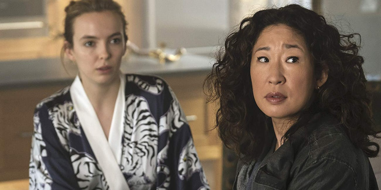 Jodie Comer and Sandra Oh in Killing Eve Season 2