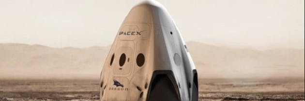 SpaceX Red Dragon Capsule concept art