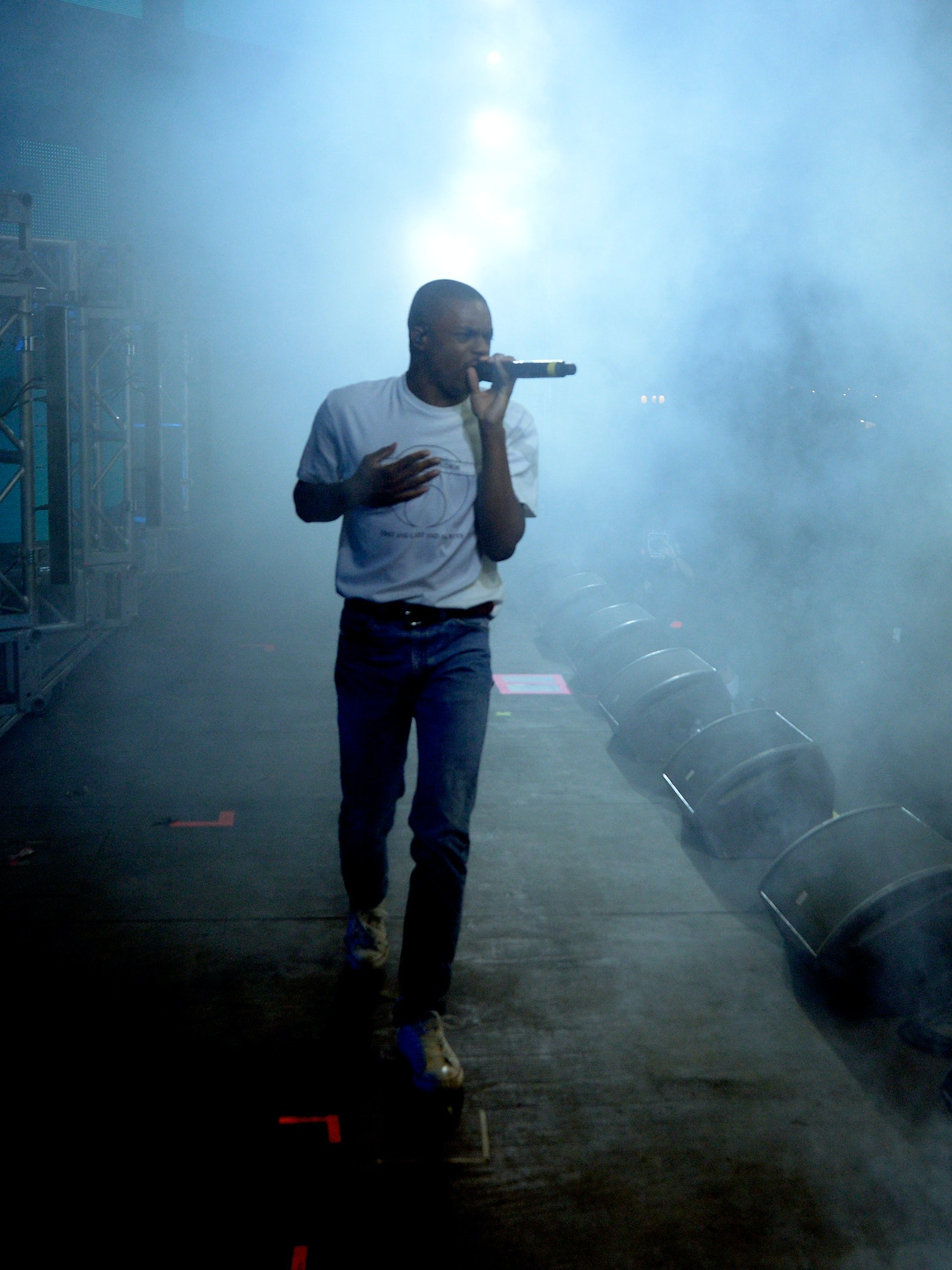 INDIO, CA - APRIL 23:  Recording artist Vince Staples performs onstage during day 2 of the 2016 Coachella Valley Music & Arts Festival Weekend 2 at the Empire Polo Club on April 23, 2016 in Indio, California.  (Photo by Michael Tullberg/Getty Images for Coachella)