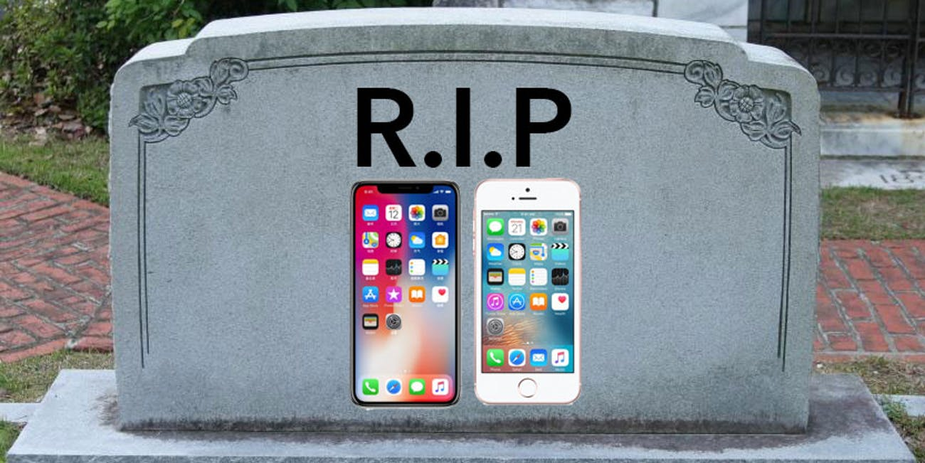 iphone x and se discontinued apple phones