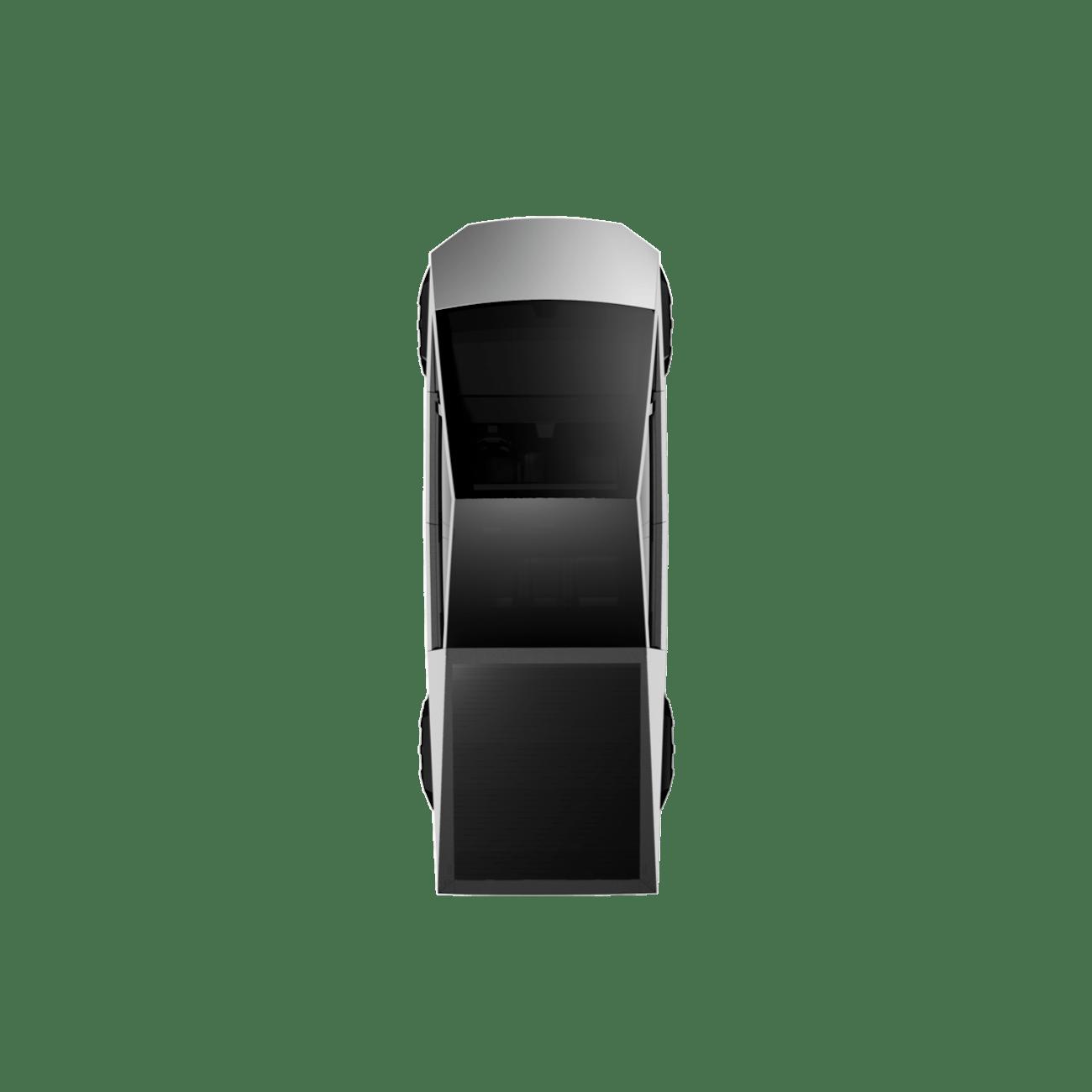 Tesla Cybertruck overhead