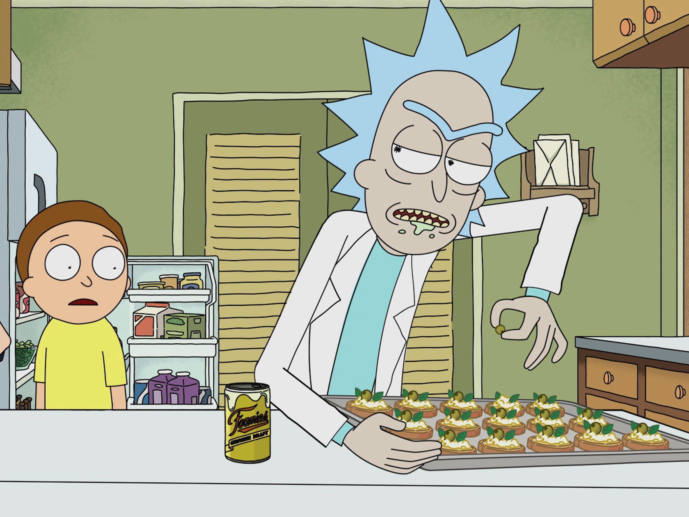 "'Rick and Morty' ""Ricksy Business"" Rick's canapés."