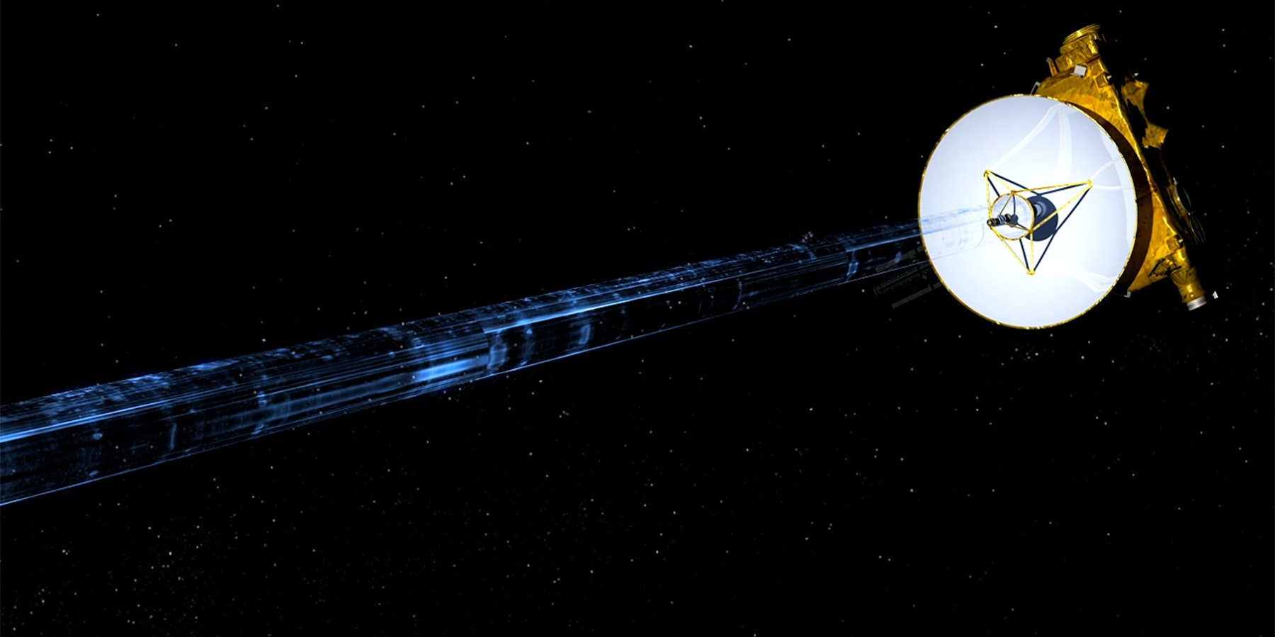 The New Horizons spacecraft has beamed back the bits of data collected during the Pluto flyby.