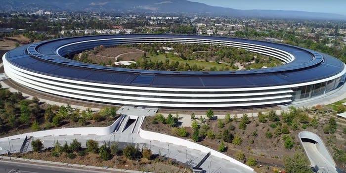 Apple Park YouTube drone footage