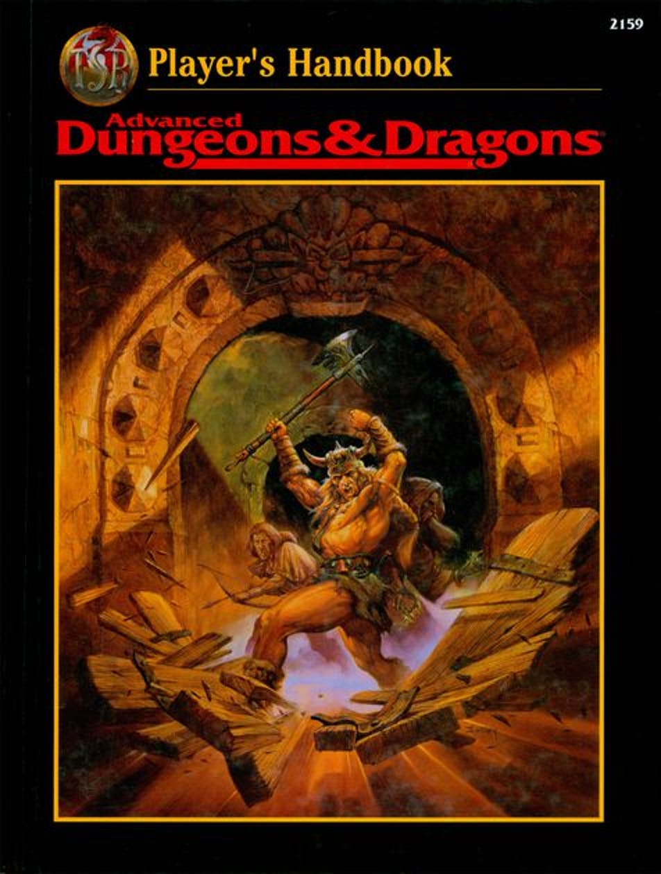 D&D 2nd edition handbook