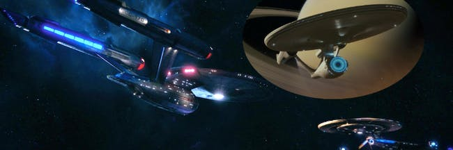 The new Enterprise, the reboot Enterprise and Discovery
