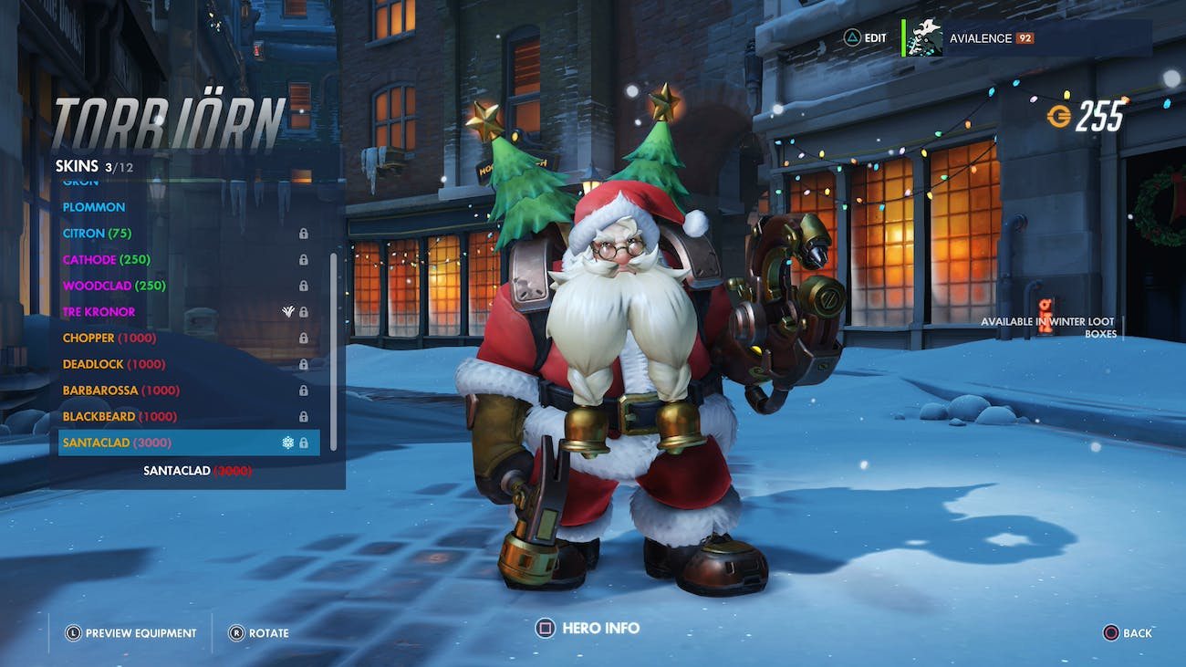 Winston Christmas Skin.The Overwatch Holiday Update Is Live Inverse