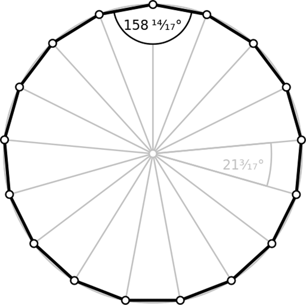 Image result for heptadecagon