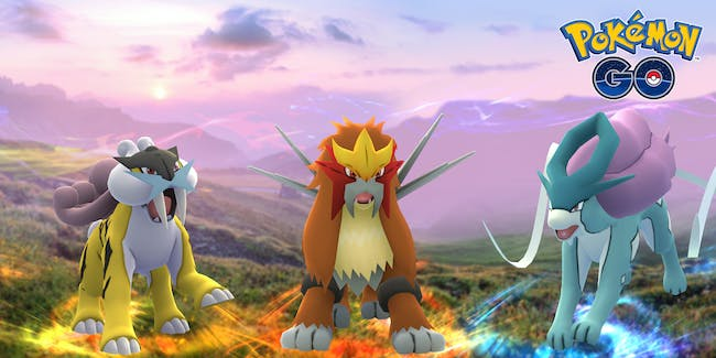 Raikou, Entei, and Suicune have become timed regional exclusives.