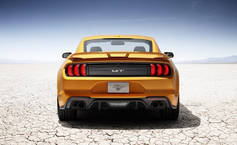 The 2018 Mustang.