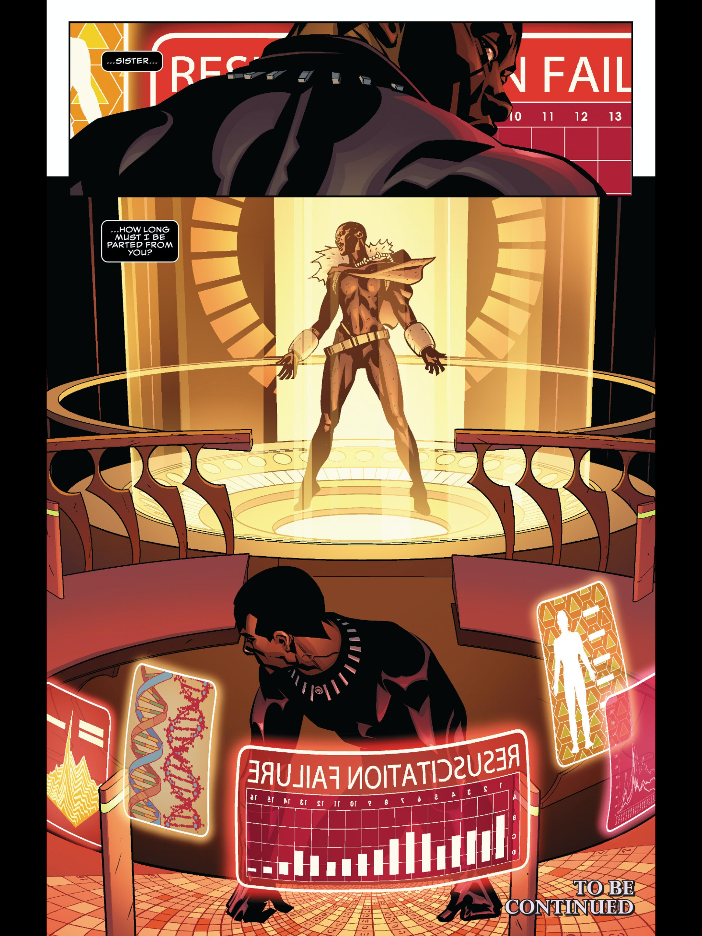 Like this gorgeous tech, from Ta-Nehisi Coates writing debut in Black Panther Issue #1.