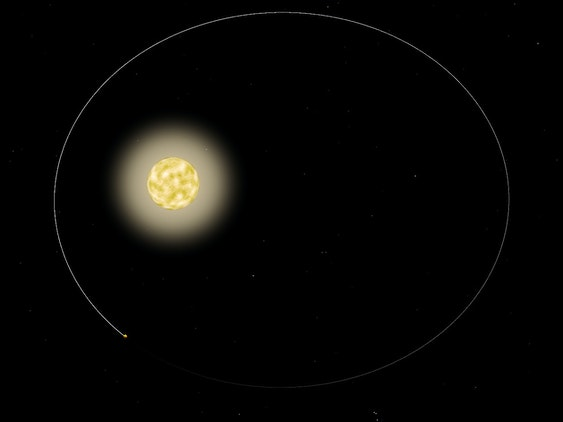 The planet HAT-P-2b has an unusual orbit around its host star.