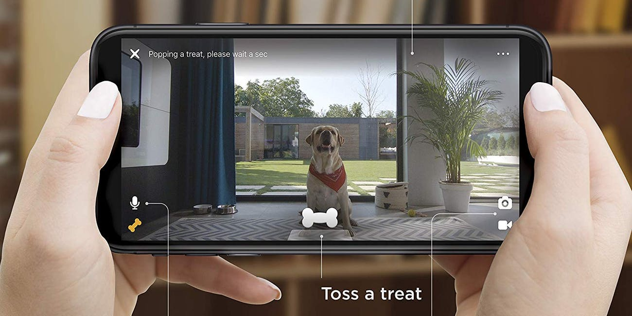 Petcube Bites 2: Smart Pet Camera with Treat Dispenser