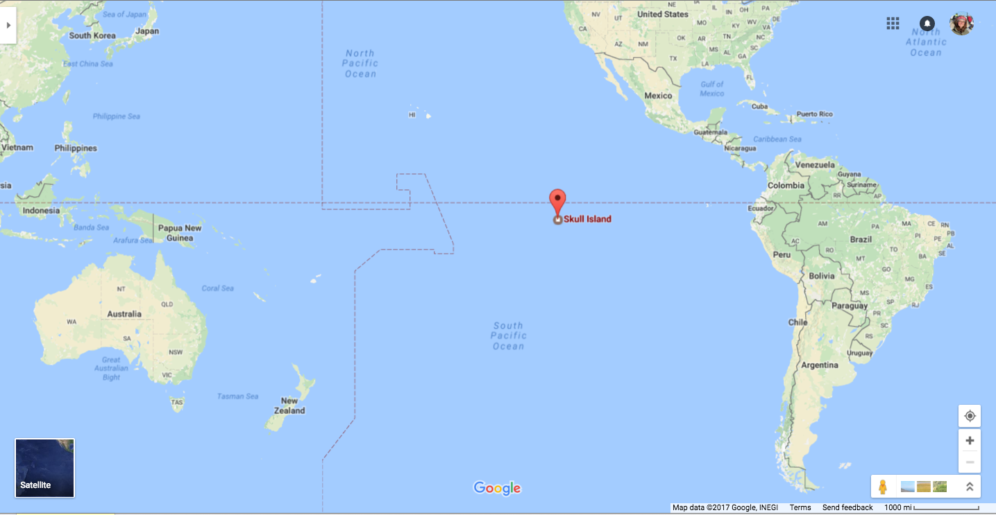 Map Of Australia King Island.Google Maps Is Lying About The Location Of Kong S Skull Island