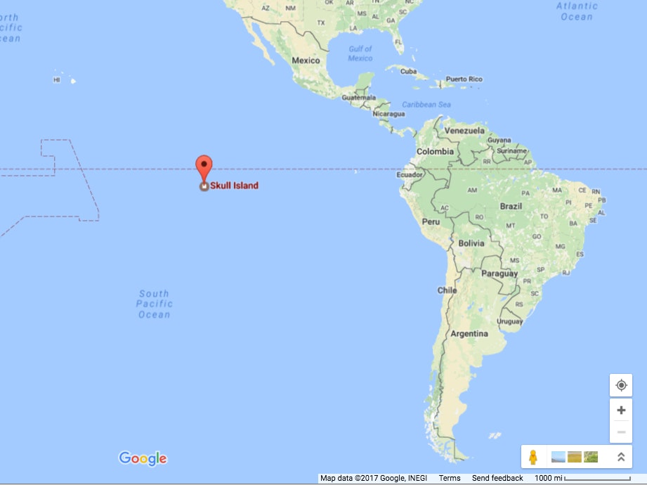 Skull Island Can't Exist Where Google Says It Does