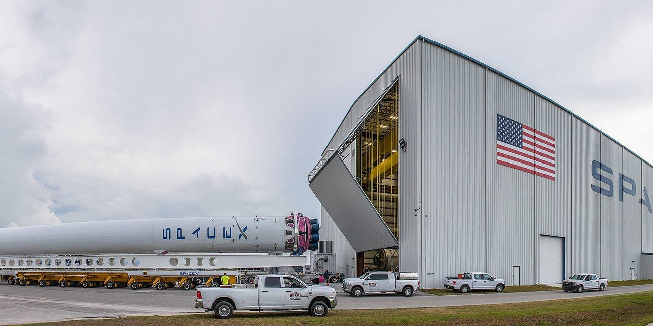 SpaceX hangar Florida