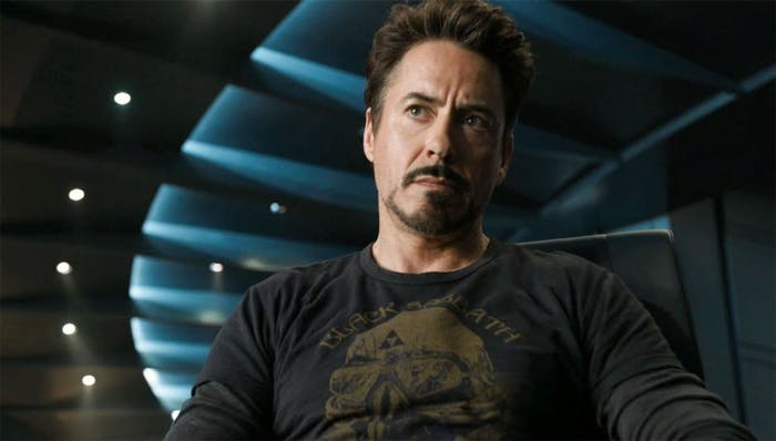 Robert Downey Jr. has been spotted in this same t-shirt from 'The Avengers' on the set of 'Avengers 4'.