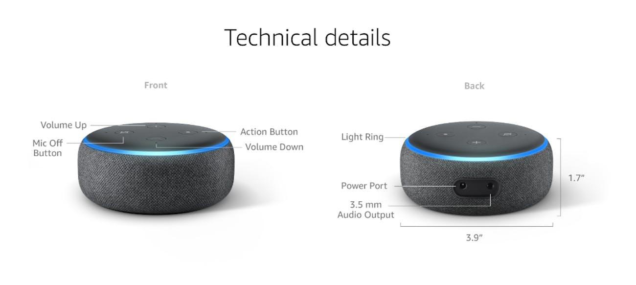 amazon echo dot 3rd gen speaker