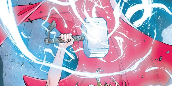 Jane Foster as Thor in Marvel's The Mighty Thor